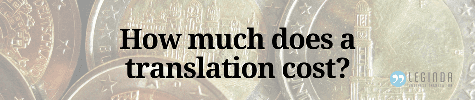 pricing factors for translations